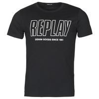 Textil Homem T-Shirt mangas curtas Replay M3395-2660 Preto