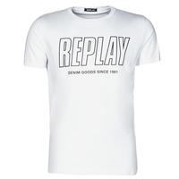 Textil Homem T-Shirt mangas curtas Replay M3395-2660 Branco