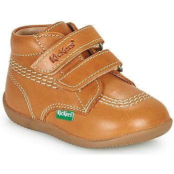Sapatos Rapaz Sapatilhas de cano-alto Kickers BILLY VELK-2 Camel