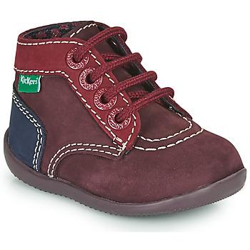 Sapatos Rapariga Botas baixas Kickers BONBON-2 Violeta / Vermelho / Marinho