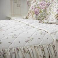 Casa Conjunto de roupa de cama Belledorm Double Marfim/Cor-de-rosa/Verde