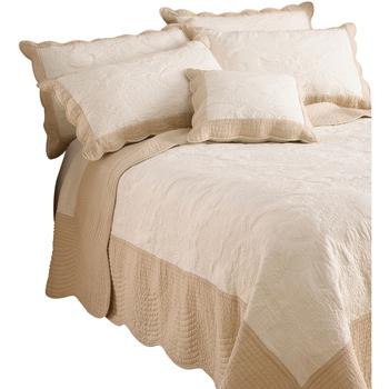 Casa Conjunto de roupa de cama Riva Home 265 x 265 cm Marfim/Taupe