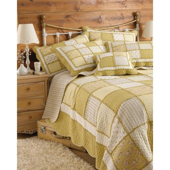 Casa Conjunto de roupa de cama Riva Home 275 x 275 cm Amarelo