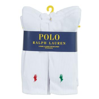 Acessórios Homem Meias Polo Ralph Lauren ASX110 6 PACK COTTON Branco