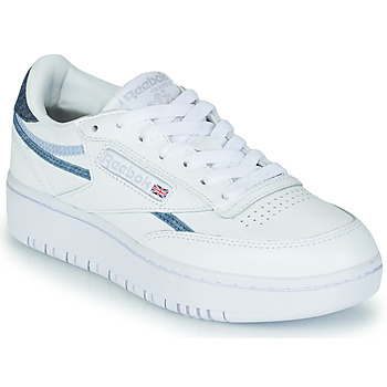 Sapatos Mulher Sapatilhas Reebok Classic CLUB C DOUBLE Branco / Azul