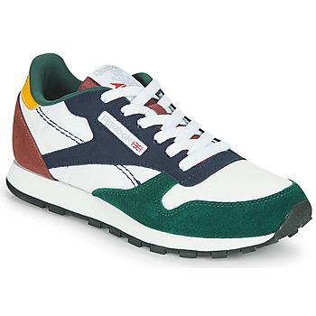 Sapatos Criança Sapatilhas Reebok Classic CL LTHR Branco / Verde / Azul
