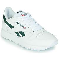 Sapatos Sapatilhas Reebok Classic CL LTHR Branco / Verde