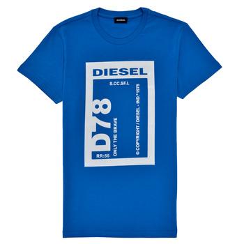 Textil Rapaz T-Shirt mangas curtas Diesel TFULL78 Azul