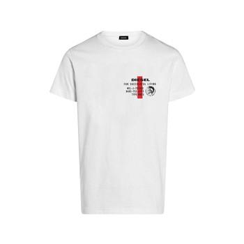 Textil Rapaz T-Shirt mangas curtas Diesel TDIEGOS Branco