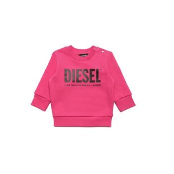 Textil Rapariga Sweats Diesel SCREWDIVISION LOGOB Rosa