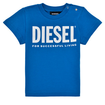 Textil Rapaz T-Shirt mangas curtas Diesel TJUSTLOGOB Azul