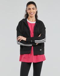Textil Mulher Sweats adidas Performance W Knit V Hoodie Preto