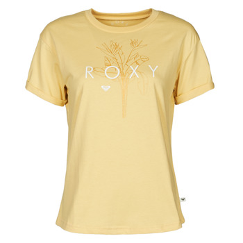 Textil Mulher T-Shirt mangas curtas Roxy EPIC AFTERNOON CORPO Amarelo