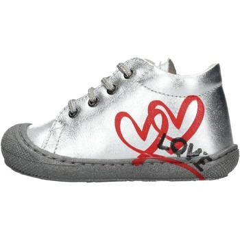 Sapatos Rapaz Sapatilhas de cano-alto Naturino - Polacchino argento KOLBY-0Q04 ARGENTO