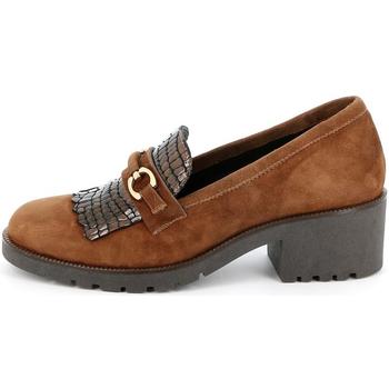 Sapatos Mulher Mocassins Grunland - Mocassino cuoio SC2967 MARRONE