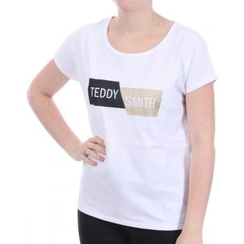 Textil Mulher T-Shirt mangas curtas Teddy Smith  Branco