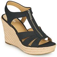 Sapatos Mulher Sandálias MICHAEL Michael Kors BERKLEY WEDGE Preto