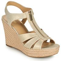 Sapatos Mulher Sandálias MICHAEL Michael Kors BERKLEY WEDGE Ouro