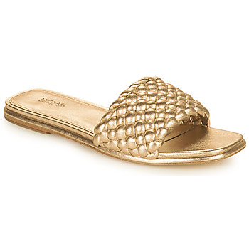 Sapatos Mulher Chinelos MICHAEL Michael Kors AMELIA FLAT SANDAL Ouro