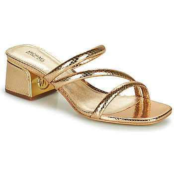 Sapatos Mulher Chinelos MICHAEL Michael Kors LANA MULE Ouro