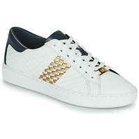 Sapatos Mulher Sapatilhas MICHAEL Michael Kors COLBY SNEAKER Branco / Ouro / Marinho