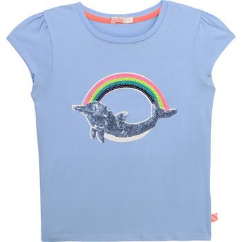 Textil Rapariga T-Shirt mangas curtas Billieblush / Billybandit U15875-798 Azul