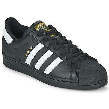 Sapatos Sapatilhas adidas Originals SUPERSTAR Preto / Branco