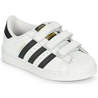 Sapatos Criança Sapatilhas adidas Originals SUPERSTAR CF C Branco / Preto