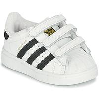Sapatos Criança Sapatilhas adidas Originals SUPERSTAR CF I Branco / Preto