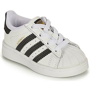 Sapatos Criança Sapatilhas adidas Originals SUPERSTAR EL I Branco / Preto