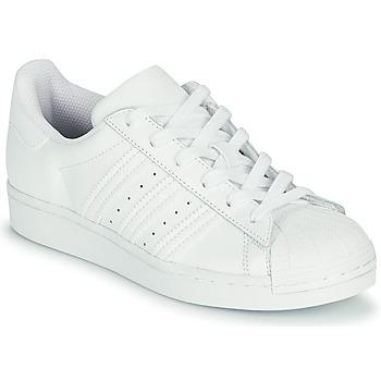 Sapatos Criança Sapatilhas adidas Originals SUPERSTAR J Branco