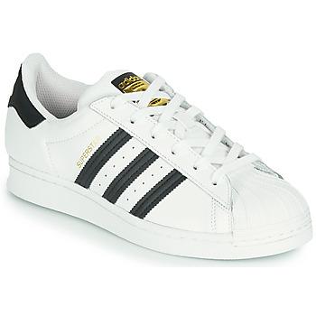 Sapatos Criança Sapatilhas adidas Originals SUPERSTAR J Branco / Preto