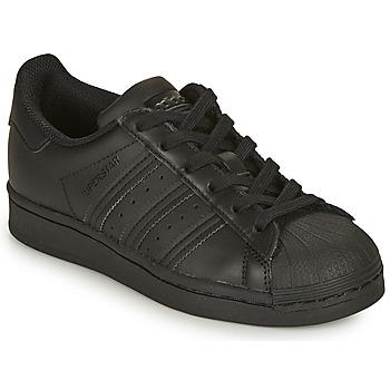 Sapatos Criança Sapatilhas adidas Originals SUPERSTAR J Preto