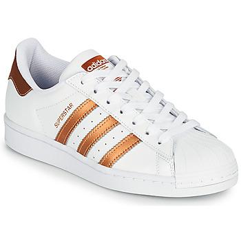 Sapatos Mulher Sapatilhas adidas Originals SUPERSTAR W Branco / Bronze