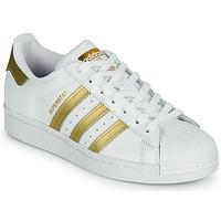 Sapatos Mulher Sapatilhas adidas Originals SUPERSTAR W Branco / Ouro