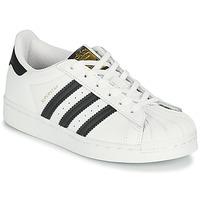 Sapatos Criança Sapatilhas adidas Originals SUPERSTAR C Branco / Preto