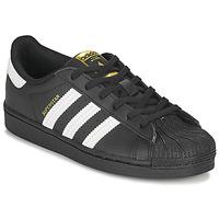 Sapatos Criança Sapatilhas adidas Originals SUPERSTAR C Preto / Branco