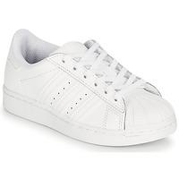 Sapatos Criança Sapatilhas adidas Originals SUPERSTAR C Branco