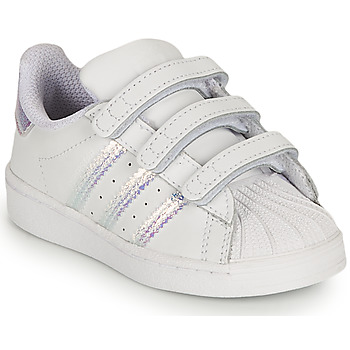 Sapatos Rapariga Sapatilhas adidas Originals SUPERSTAR CF I Branco / Iridescente