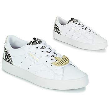 Sapatos Mulher Sapatilhas adidas Originals adidas SLEEK W Branco / Leopardo