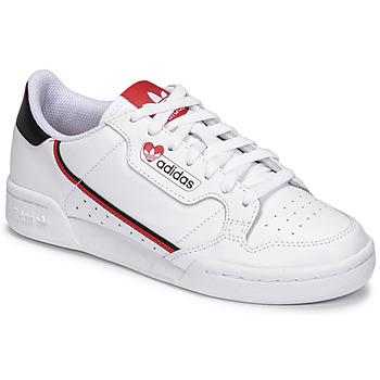 Sapatos Mulher Sapatilhas adidas Originals CONTINENTAL 80 Branco / Vermelho