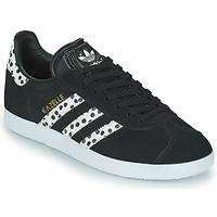 Sapatos Mulher Sapatilhas adidas Originals GAZELLE W Preto / Branco