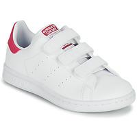 Sapatos Rapariga Sapatilhas adidas Originals STAN SMITH CF C SUSTAINABLE Branco / Rosa