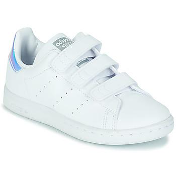 Sapatos Rapariga Sapatilhas adidas Originals STAN SMITH CF C SUSTAINABLE Branco / Iridescente