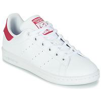 Sapatos Rapariga Sapatilhas adidas Originals STAN SMITH J SUSTAINABLE Branco / Rosa