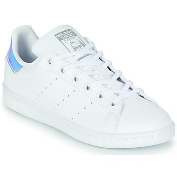 Sapatos Rapariga Sapatilhas adidas Originals STAN SMITH J SUSTAINABLE Branco / Iridescente