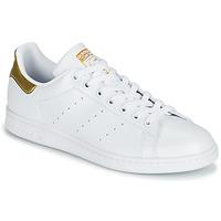 Sapatos Mulher Sapatilhas adidas Originals STAN SMITH W SUSTAINABLE Branco / Ouro