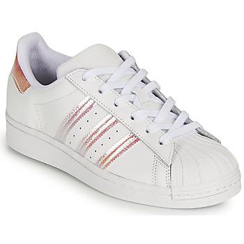 Sapatos Rapariga Sapatilhas adidas Originals SUPERSTAR J Branco / Iridescente