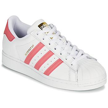 Sapatos Mulher Sapatilhas adidas Originals SUPERSTAR W Branco / Rosa