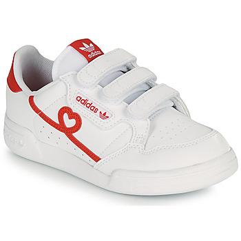 Sapatos Rapariga Sapatilhas adidas Originals CONTINENTAL 80 CF C Branco / Vermelho